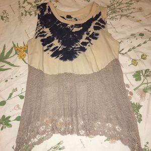 Urban Outfitters Tie-Dye Lace Tank Top